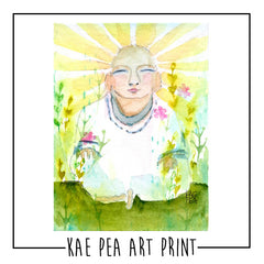 "Kae Pea's Original ""Buddha"" Watercolor Print"