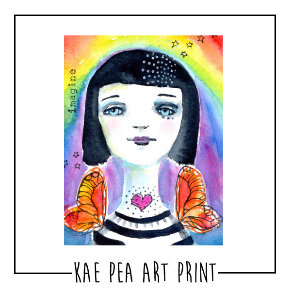 "Kae Pea's Original ""Imagine"" Watercolor Print"