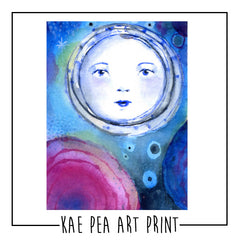 "Kae Pea's Original ""New Moon"" Watercolor Print"
