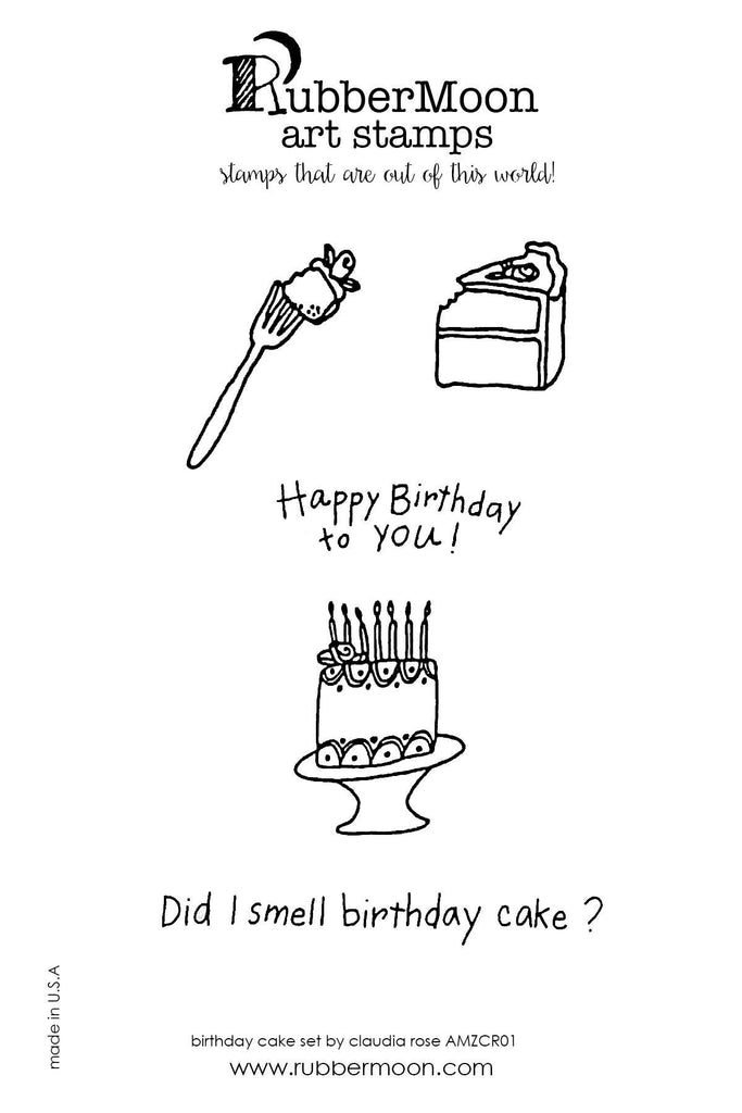 Claudia Rose | CRBDAY05 | Birthday Cake Stamp Set