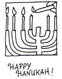 Claudia Rose | CR804D - Happy Hanukah - Rubber Art Stamp