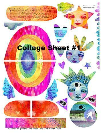 Collage and Embellishment Papers from Kae Pea | Digital or Physical | (3-pk)