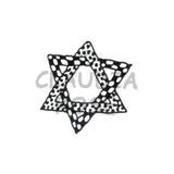 Fun Jewish Star Rubber Art Stamp