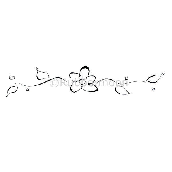 Dave Brethauer | DB2108G - Flower Border - Rubber Art Stamp