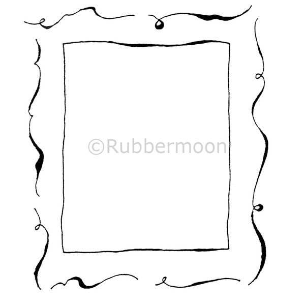 Dave Brethauer | DB2111H - Picture Frame - Rubber Art Stamp