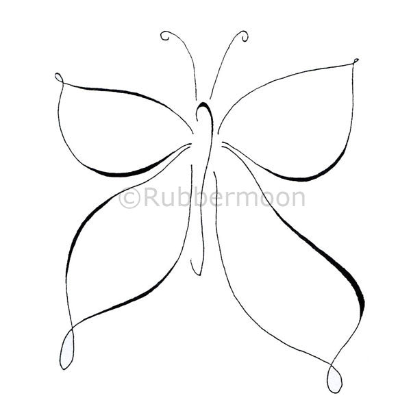 Large Butterfly - DB2123K - Rubber Art Stamp