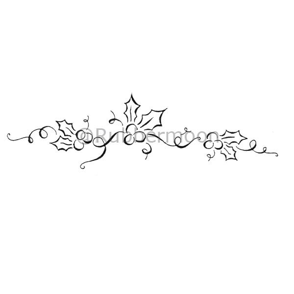 dave brethauer db2137h holly border rubber art stamp rubbermoon