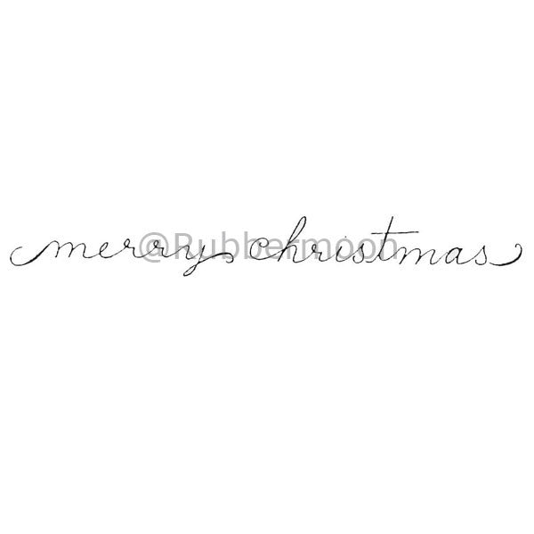 Dave Brethauer | DB2148E - Merry Christmas (cursive) - Rubber Art Stamp