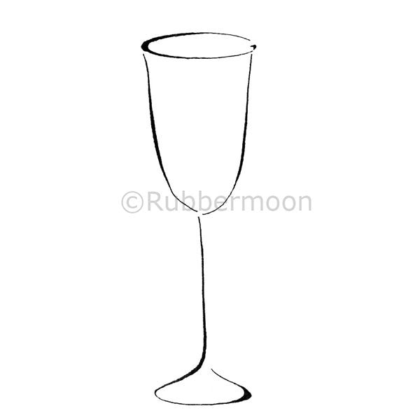 Dave Brethauer | DB2248H - Wine Glass - Rubber Art Stamp