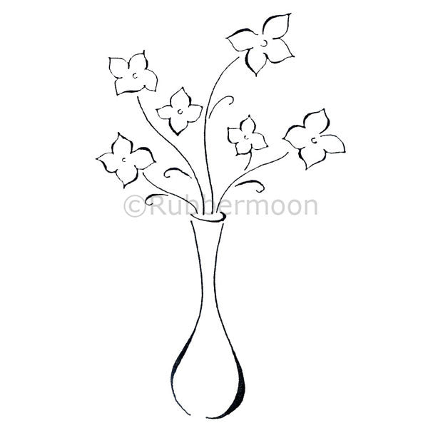 Dave Brethauer | DB2250J - Vase Full of Flowers - Rubber Art Stamp