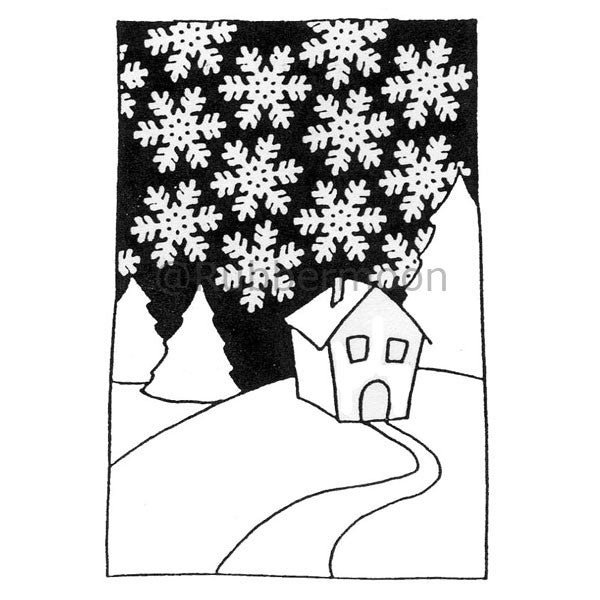 Uncle Fred's Cabin - DB2291H - Rubber Art Stamp