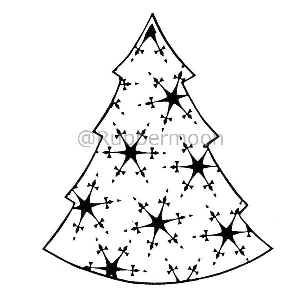 Dave Brethauer | DB2296J - Snowflake Tree - Rubber Art Stamp