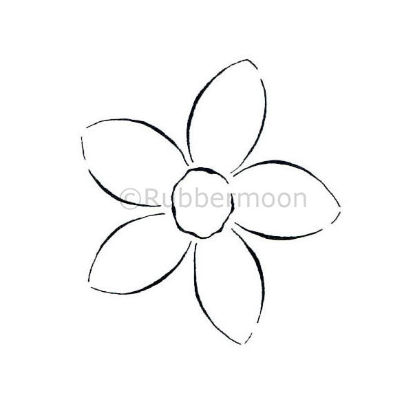 5-Petal Flower - DB2301D - Rubber Art Stamp