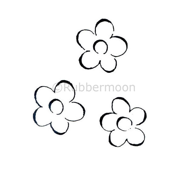 Dave Brethauer | DB2302D - Set of 3 Flowers - Rubber Art Stamp