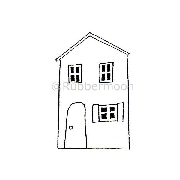 Dave Brethauer | DB2324D - Little Home - Rubber Art Stamp
