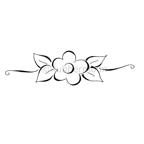 Dave Brethauer | DB2327H - Single Flower Border - Rubber Art Stamp