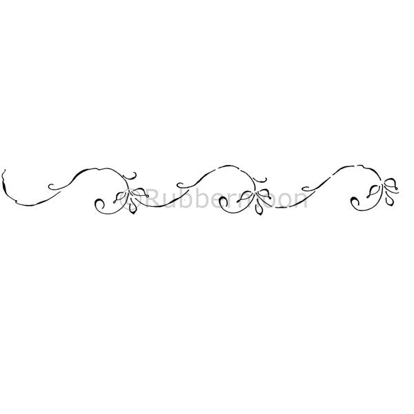 Dave Brethauer | DB2329H - Swirly Leaf Border - Rubber Art Stamp
