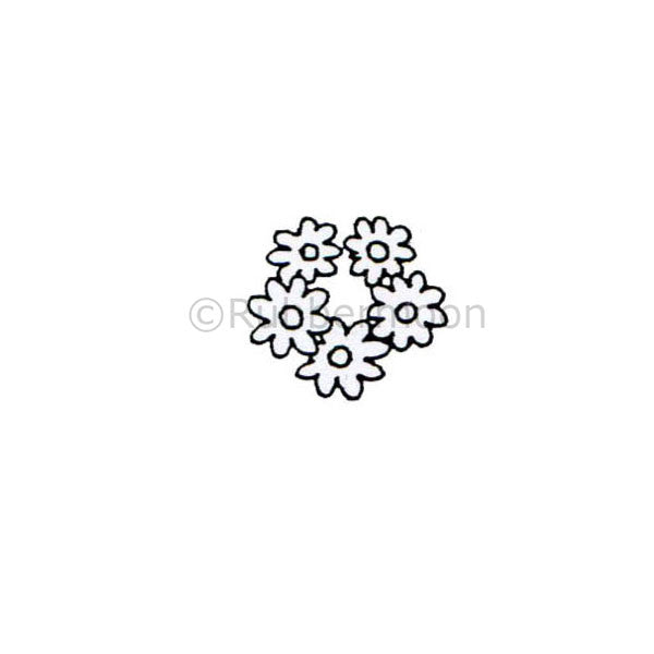 Dave Brethauer | DB2340B -Daisy Ring - Rubber Art Stamp