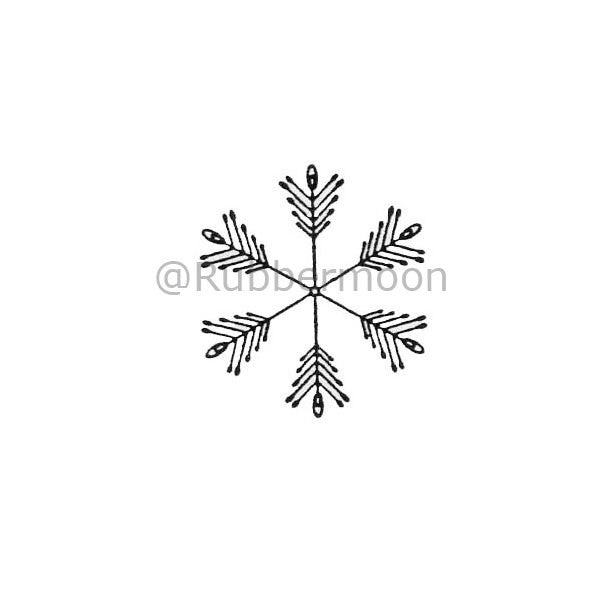 6 Sided Snowflake (small) - DB2426C - Rubber Art Stamp