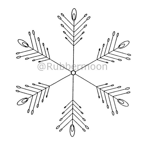 Large Snowflake - DB2437J - Rubber Art Stamp