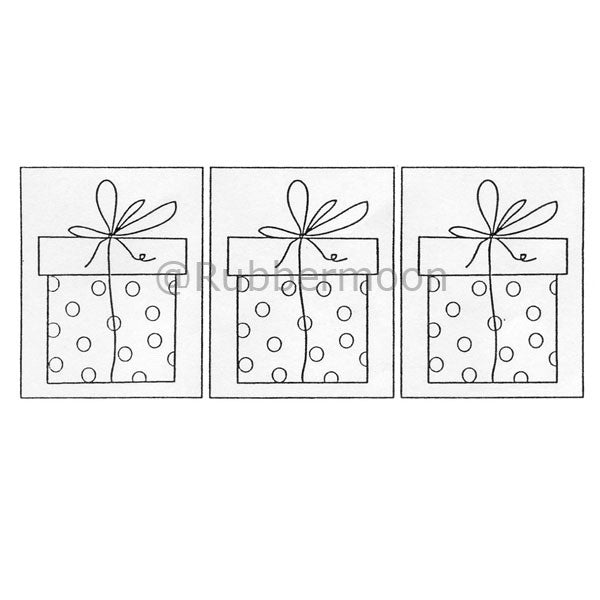 3 Gifts - DB2438J - Rubber Art Stamp