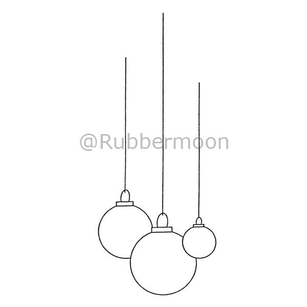 3 Hanging Ornaments - DB2516J - Rubber Art Stamp