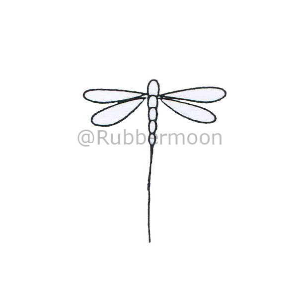Dragonfly (Outline) DB2523C - Rubber Art Stamp