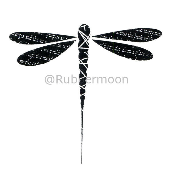 Large Dragonfly - DB2545J - Rubber Art Stamp