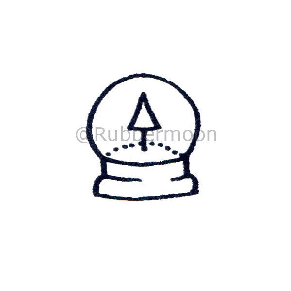 Snowglobe w/Tree Inside - DB2584C - Rubber Art Stamp