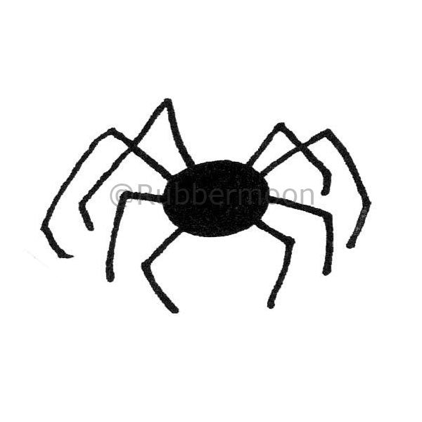 Creepy Spider - DB2652F - Rubber Art Stamp