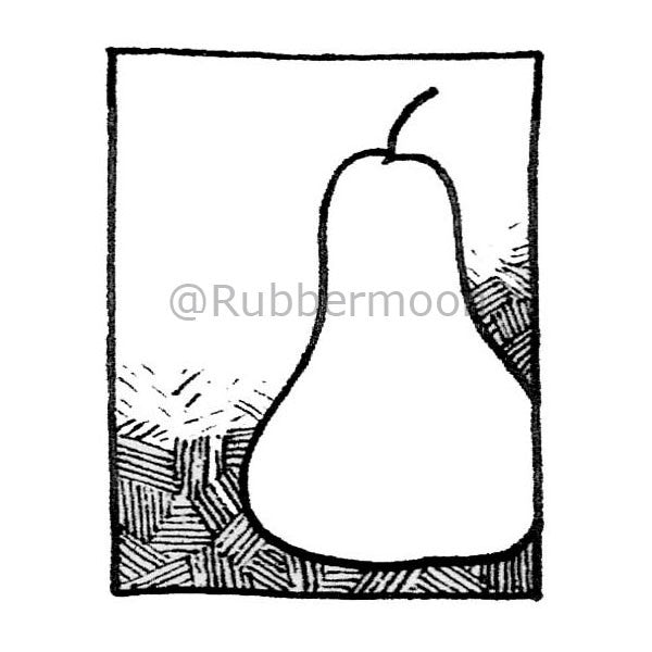 A Pear - DB2659F - Rubber Art Stamp