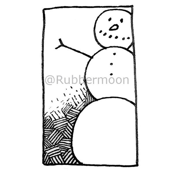 Snowman - DB2665F- Rubber Art Stamp