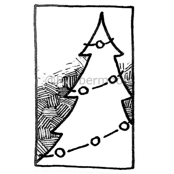 A Christmas Tree - DB2666F - Rubber Art Stamp