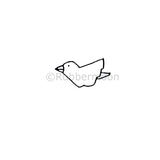 Wee Bird - DB4115A - Rubber Art Stamp