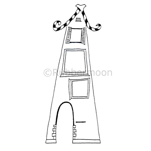 Lovely Loft House - DB4265K - Rubber Art Stamp