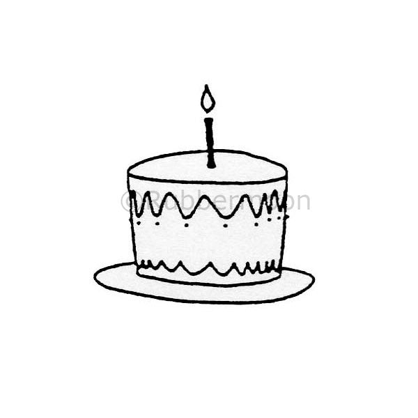 Cake on a Plate - DB4381C - Rubber Art Stamp