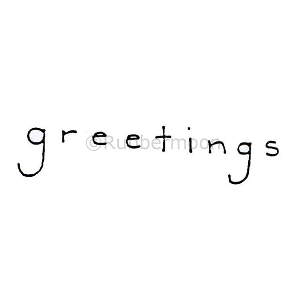 Greetings - DB4394D - Rubber Art Stamp