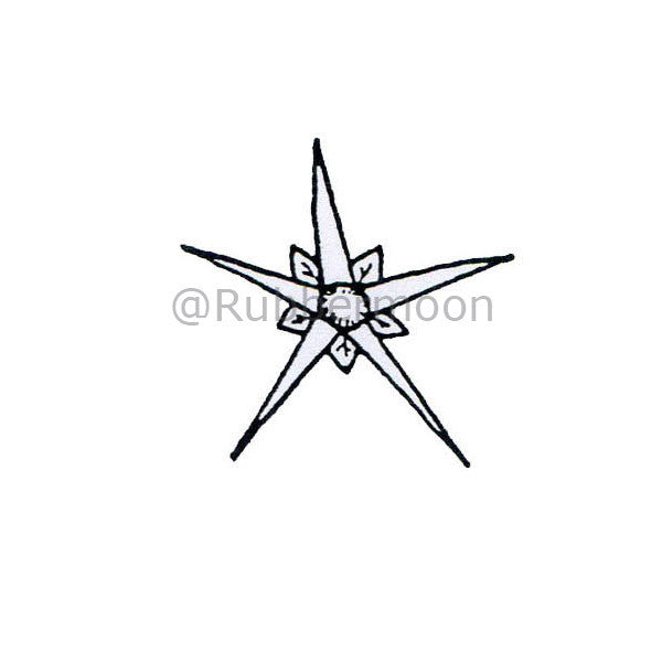Crooked Star - DB4395C - Rubber Art Stamp