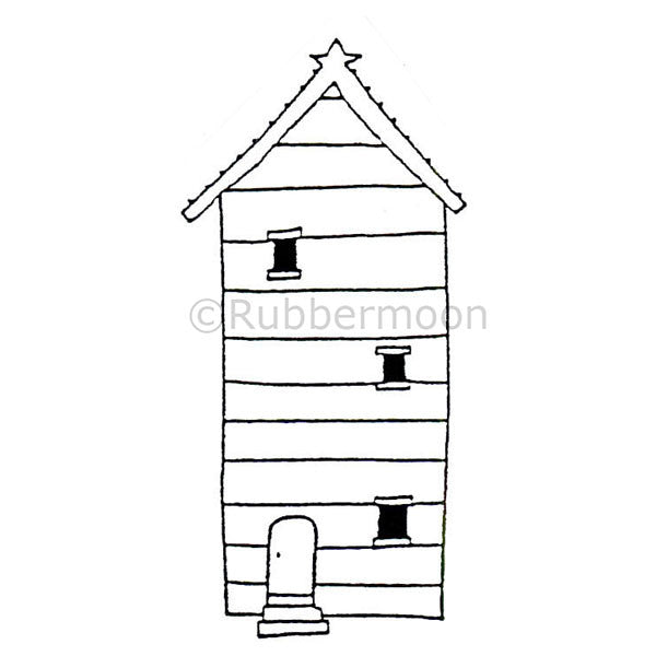 3 Story Home - DB4451E - Rubber Art Stamp