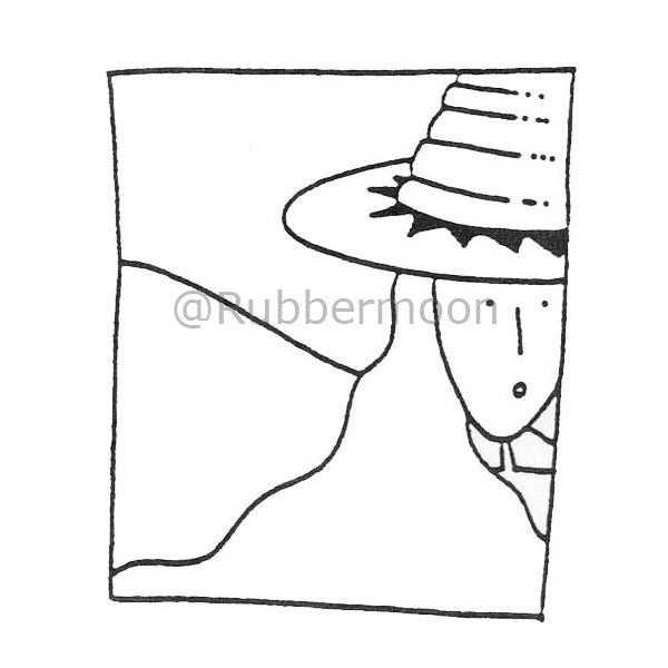 Dave Brethauer | DB4460E - Shady Lady - Rubber Art Stamp