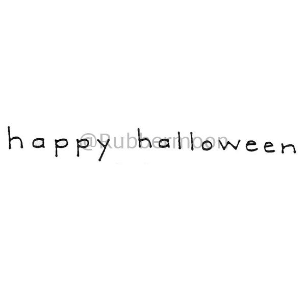 Happy Halloween - DB4461E - Rubber Art Stamp