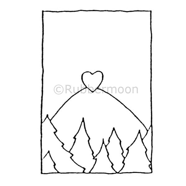Heart Hill - DB4464F - Rubber Art Stamp