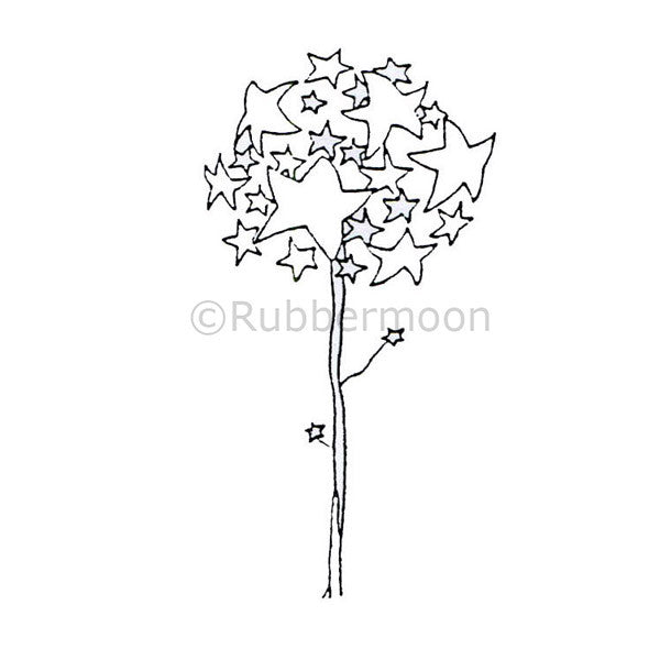 Dave Brethauer | DB4582E - Star Tree - Rubber Art Stamp