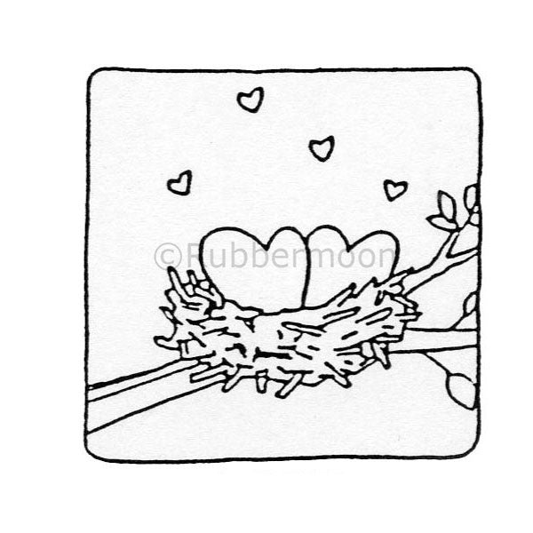 Love Nest - DB4585F - Rubber Art Stamp