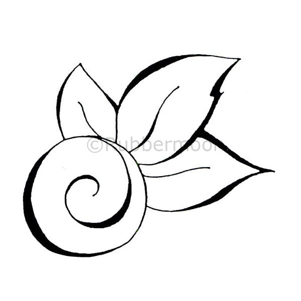 swirl with 3 leaves