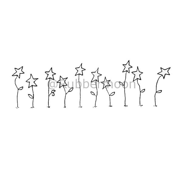 Grow Your Own Wishes (Starflowers) - DB4683F - Rubber Art Stamp