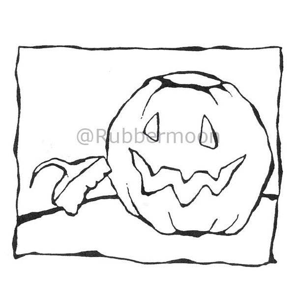 Dave Brethauer | DB4795G - Blue Ribbon Pumpkin - Rubber Art Stamp