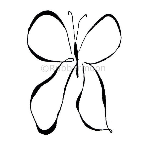 Beautiful Butterfly - DB9180F - Rubber Art Stamp