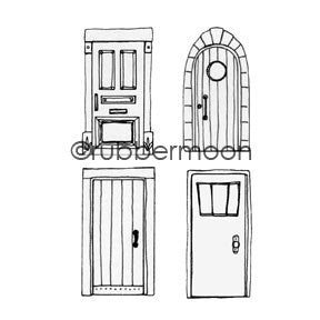 City Doors Cube - KP5405K - Rubber Art Stamp