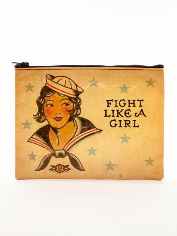 Blue Q | Fight Like a Girl Zipper Pouch